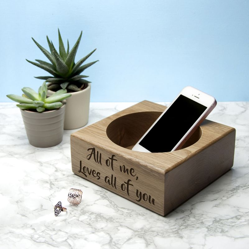 Personalised Solid Oak Stash Tray product image