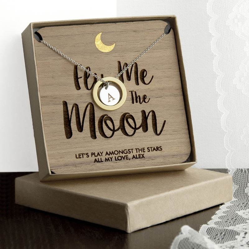 Personalised To The Moon Necklace & Keepsake product image