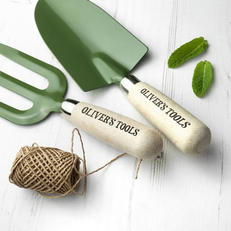 Personalised Trowel and Fork Set product image