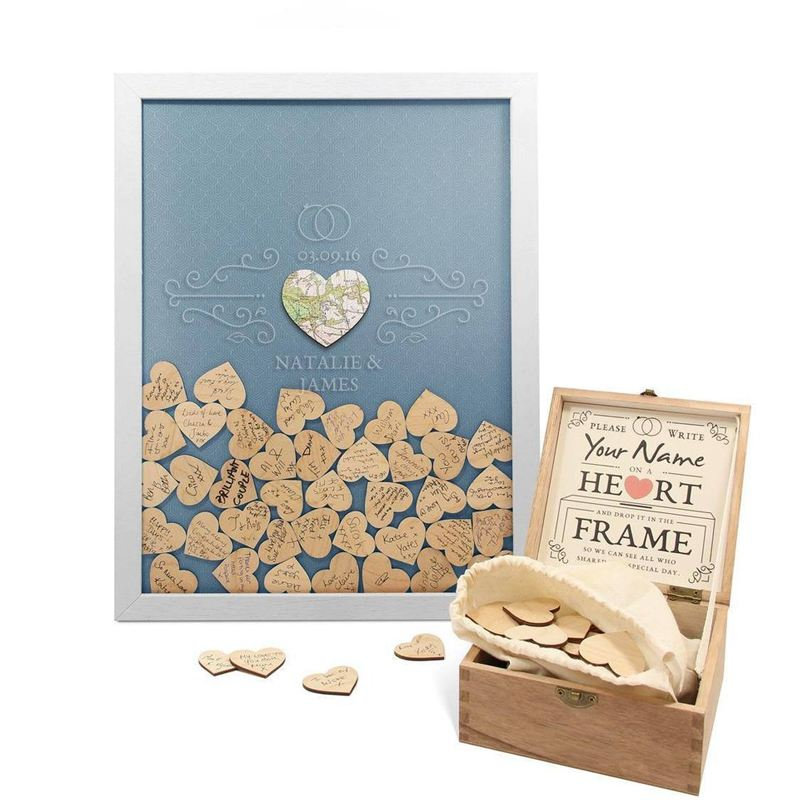 Personalised Wedding Guest Book - Drop Box product image