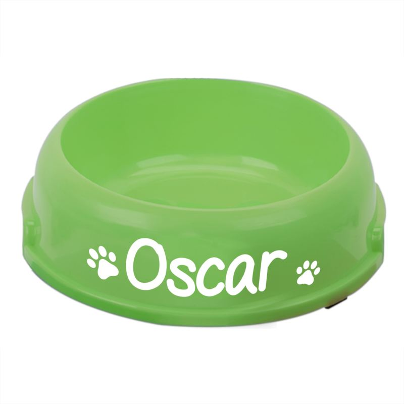 Personalised Green Round Pet Feeding Bowl product image