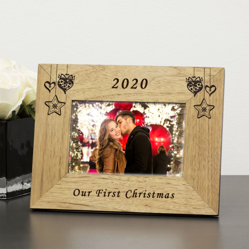 Our First Christmas Wood Frame 6 x 4 product image