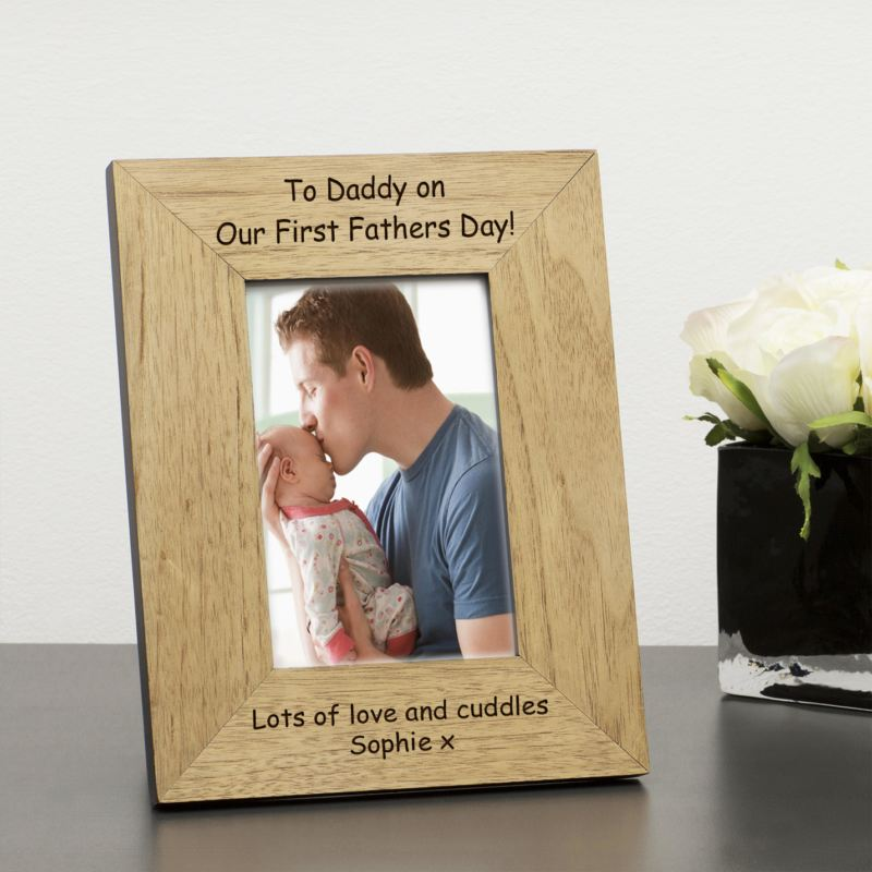 First Father's Day Wood Frame 6 x 4 product image