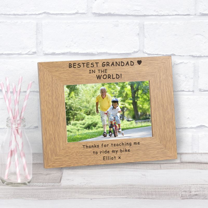 Bestest Grandad in the World Wood Frame 6 x 4 product image