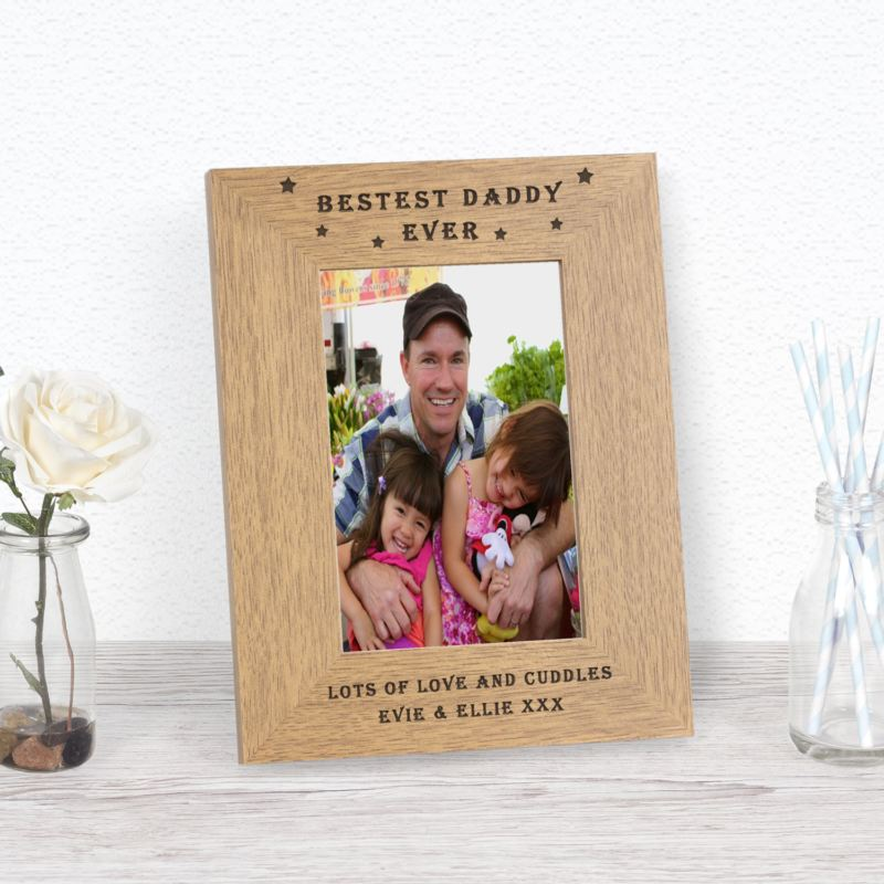 Bestest Daddy Ever Wood Frame 6 x 4 product image