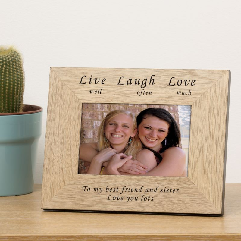 Live well Laugh often Love much Wood Frame 6 x 4 product image