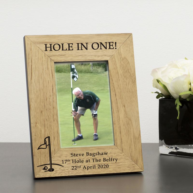HOLE IN ONE! Wood Frame 6 x 4 product image
