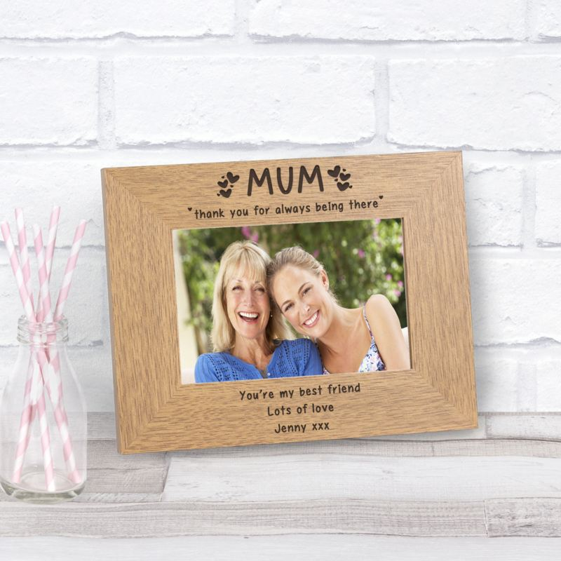 MUM thank you for always being there Wood Frame 6 x 4 product image