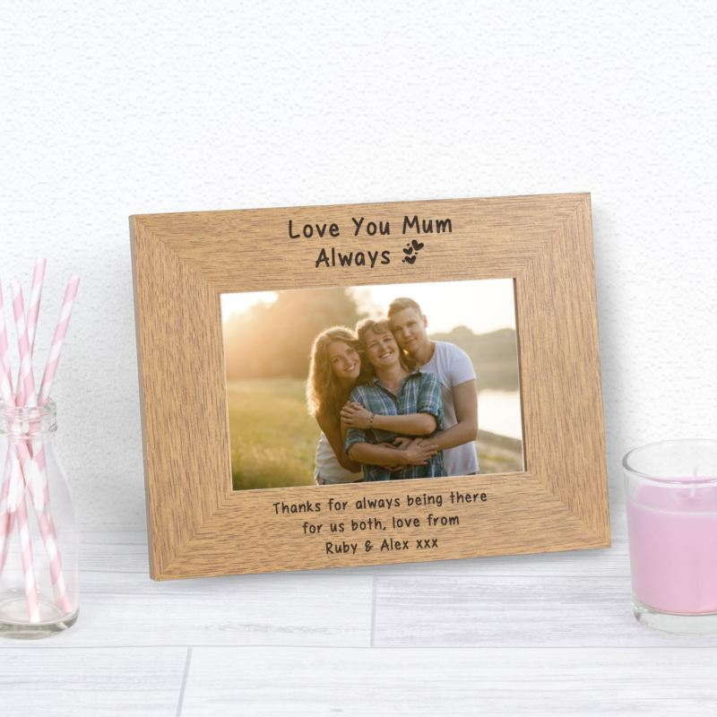 Love you Mum Always Wood Frame 6 x 4 product image