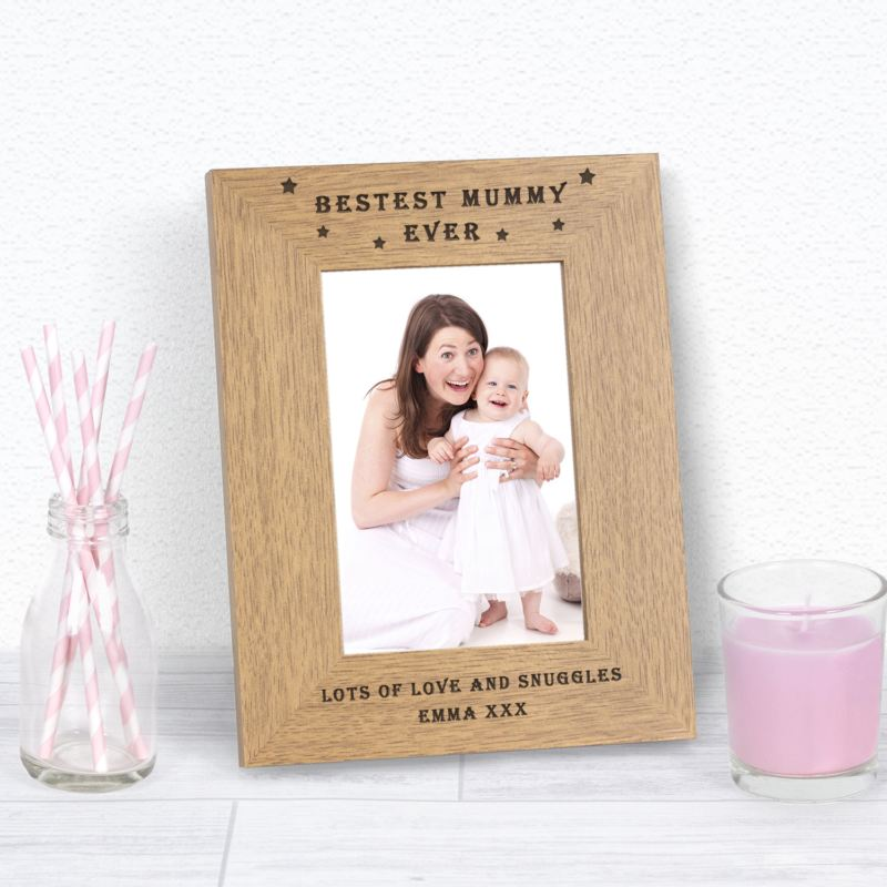 BESTEST MUMMY EVER Wood Frame 6 x 4 product image