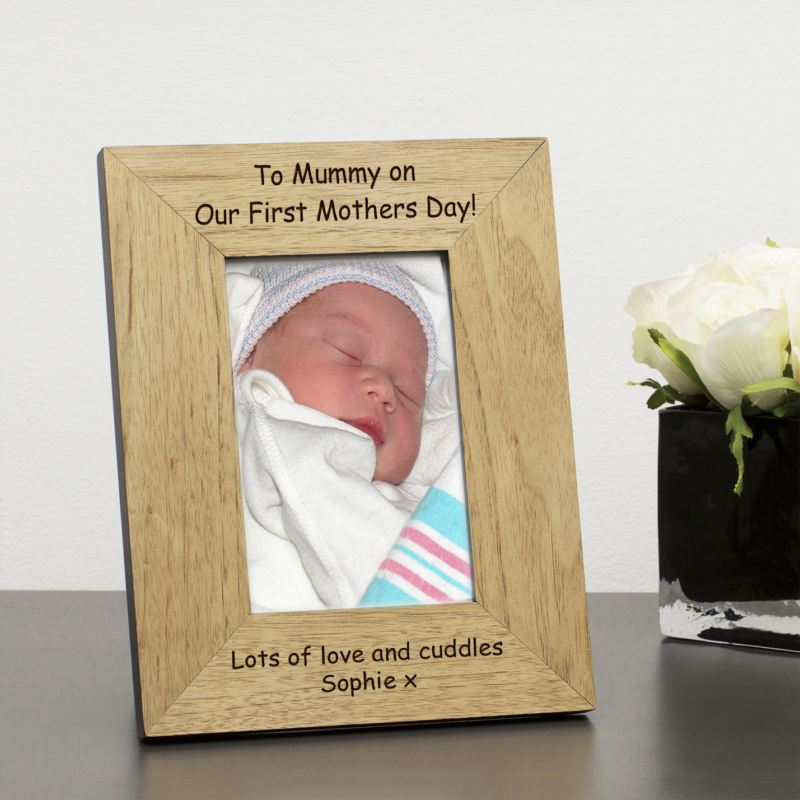 To Mummy on Our First Mother's Day Wood Frame 6 x 4 product image