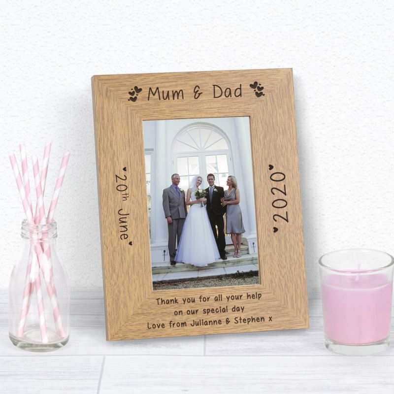 Mum & Dad Wood Frame 6 x 4 product image