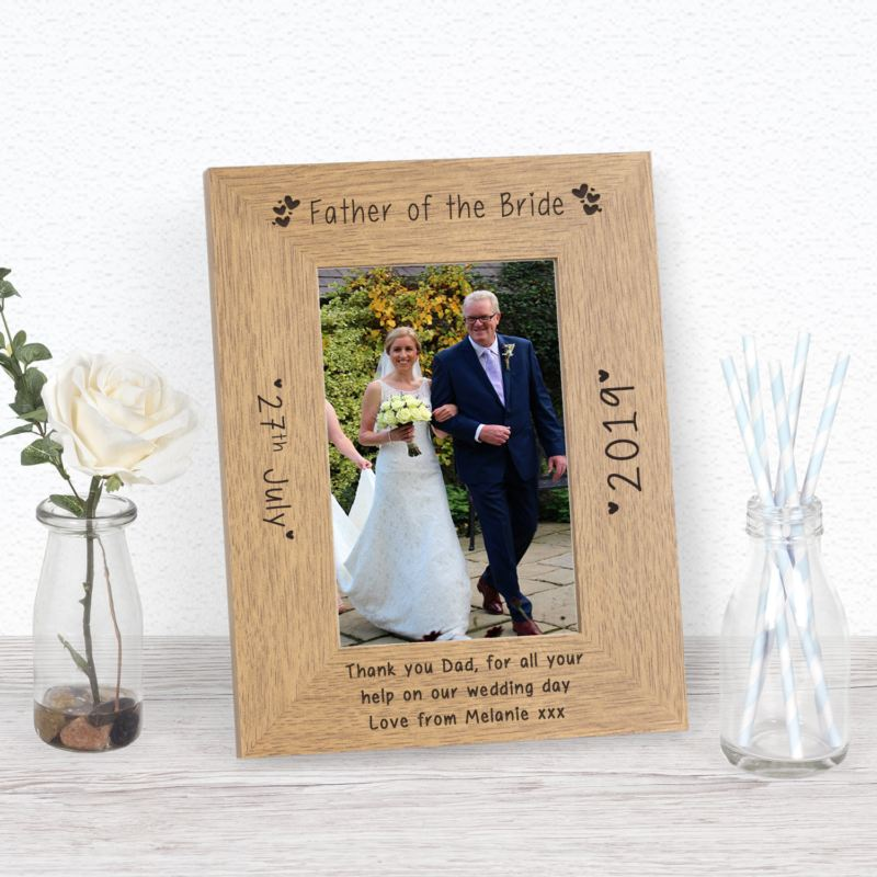 Father of the Bride Wood Frame 6 x 4 product image