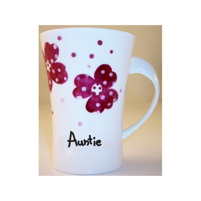 Pink Pansies Auntie Twist Handle Mug product image