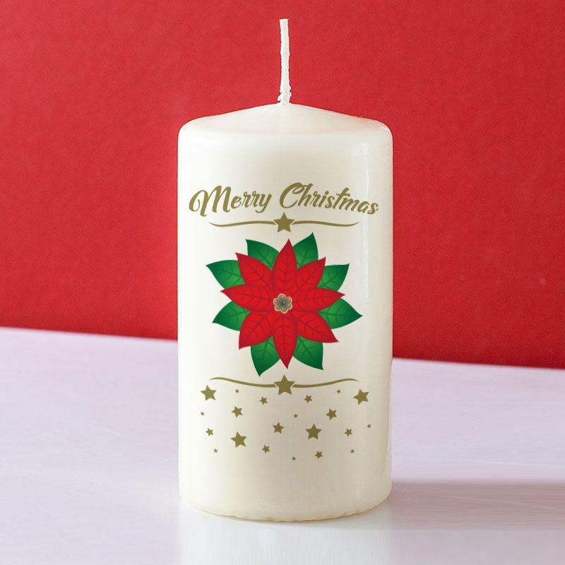 Poinsettia Christmas Candle product image