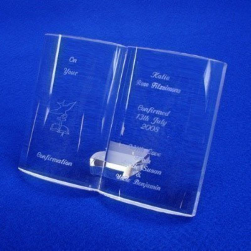 Presentation Boxed Engraved Crystal Confirmation Bible product image