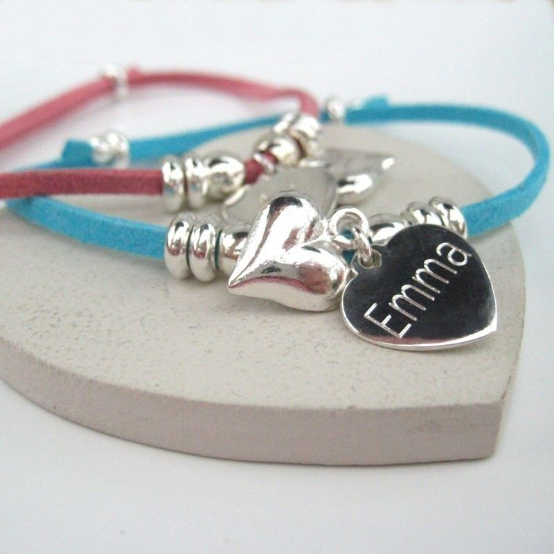 Puff Heart Suede Bracelet product image