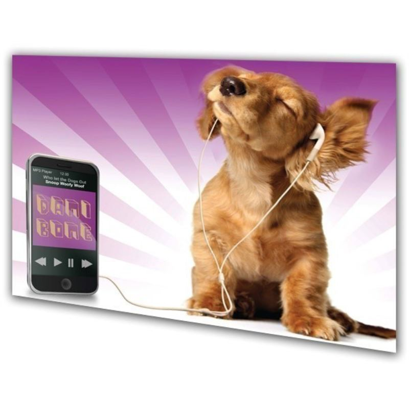 Puppy Rocking Out Personalised Framed Poster product image
