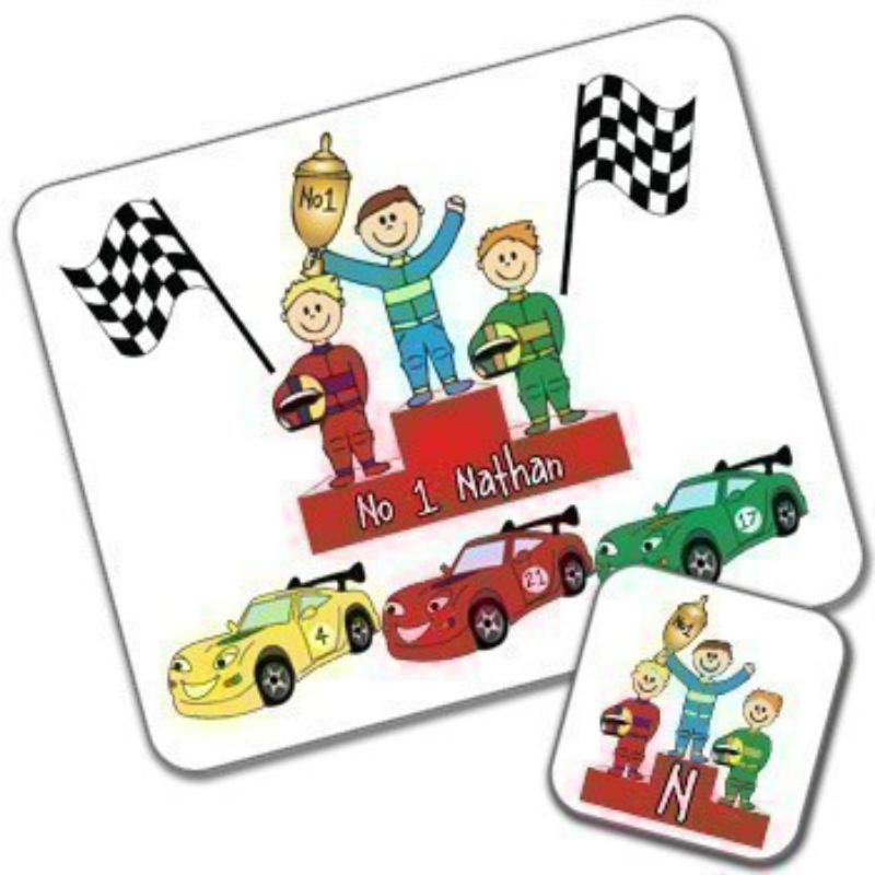 Racing Cars Design Placemat and Coaster Set product image