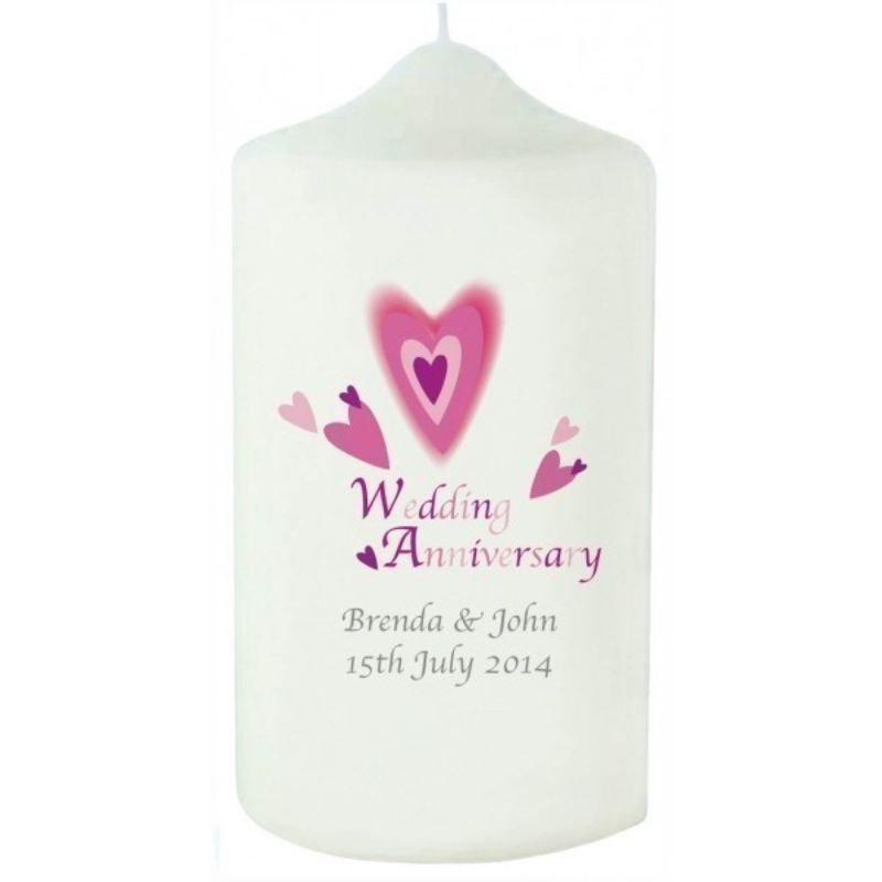 Red Hearts Anniversary Candle product image