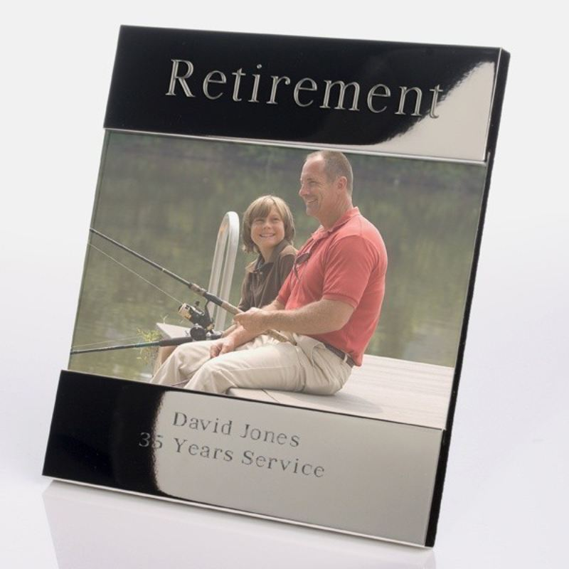 Retirement Shiny Silver Photo Frame product image