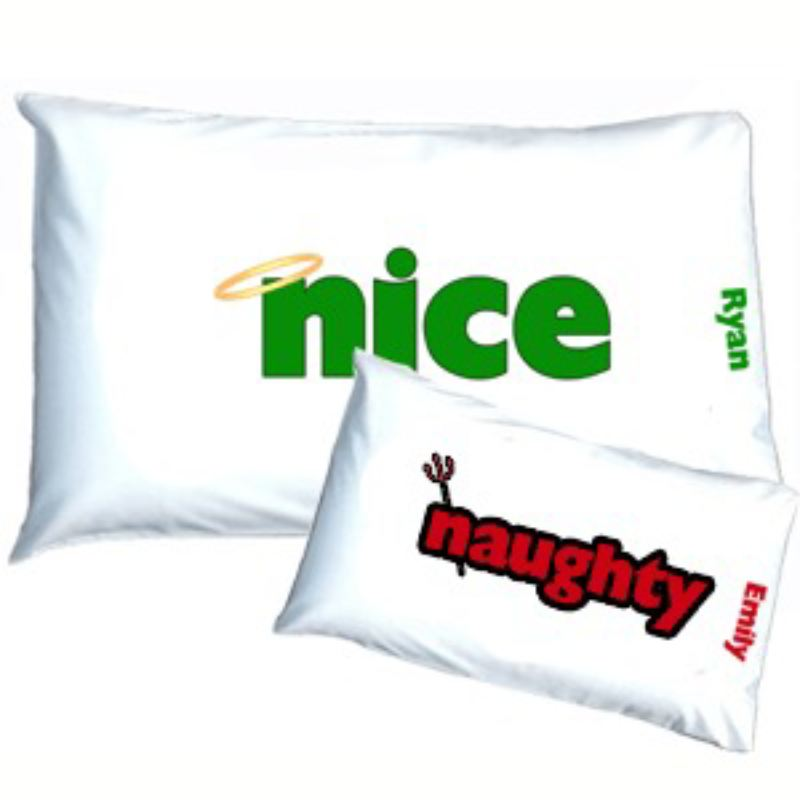 Reversible Naughty & Nice Pillowcases product image