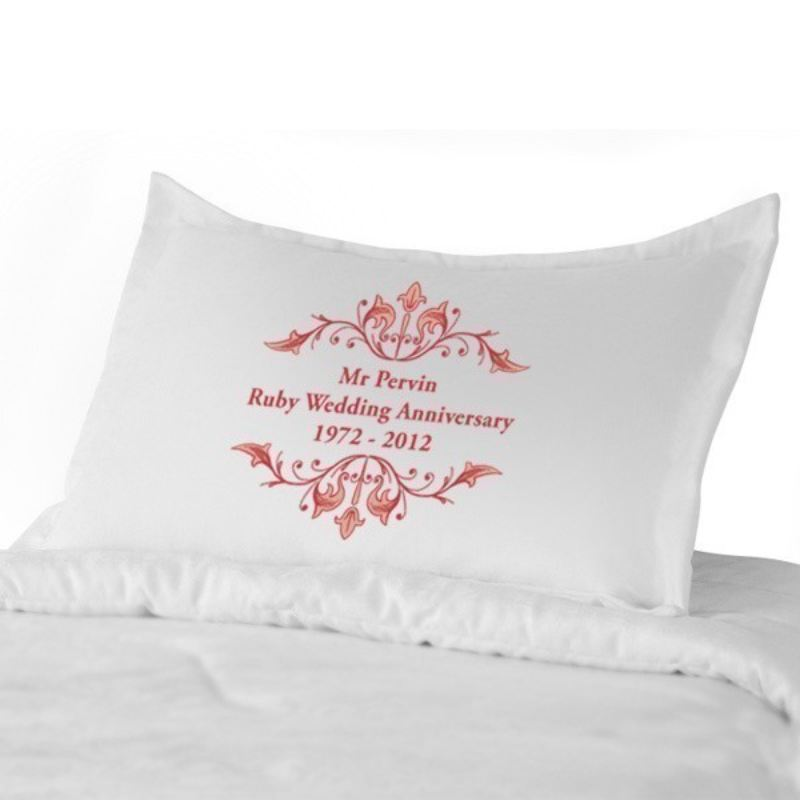 Ruby Anniversary Pillowcases product image