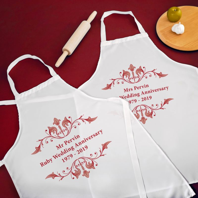 40th Wedding Anniversary Aprons product image