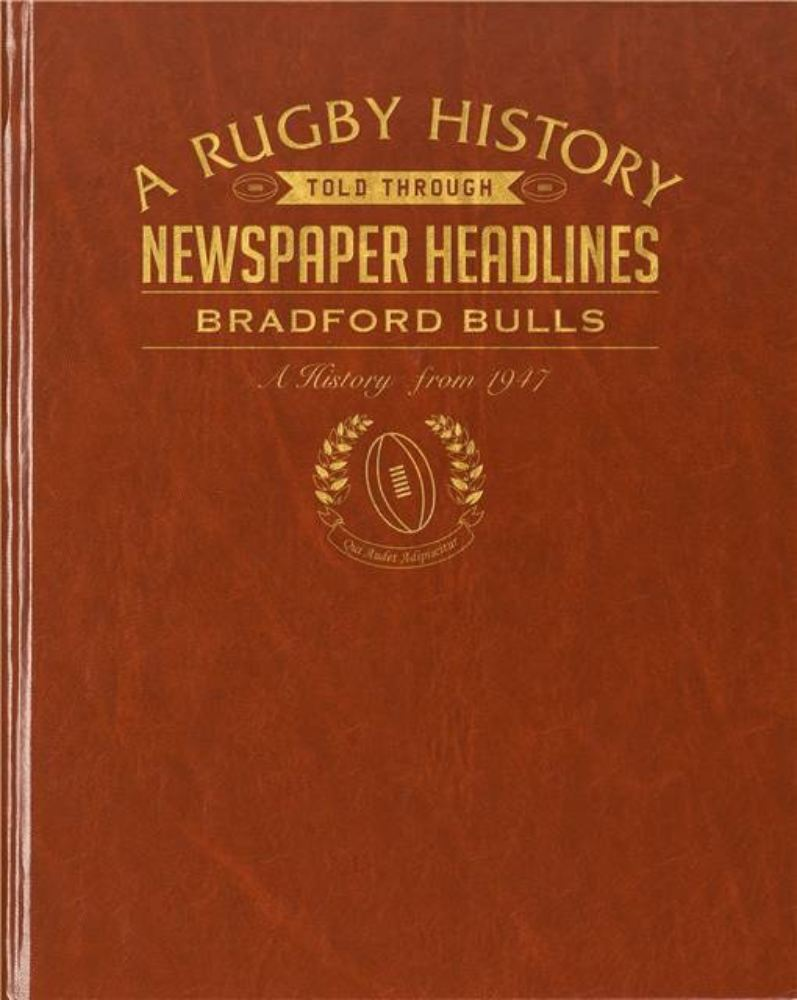 Rugby Newspaper Bradford Bulls Book - Leatherette Cover product image