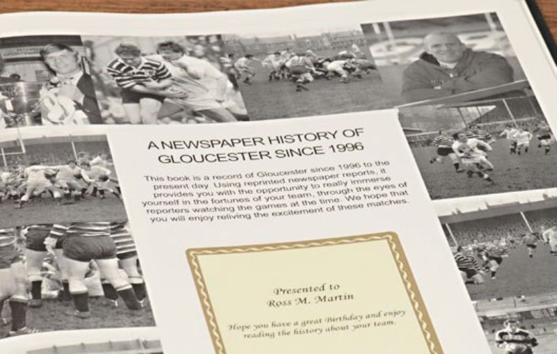 Rugby Newspaper Gloucester Book - Leatherette Cover product image
