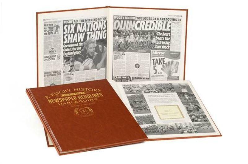 Rugby Newspaper Harlequins Book - Leatherette Cover product image
