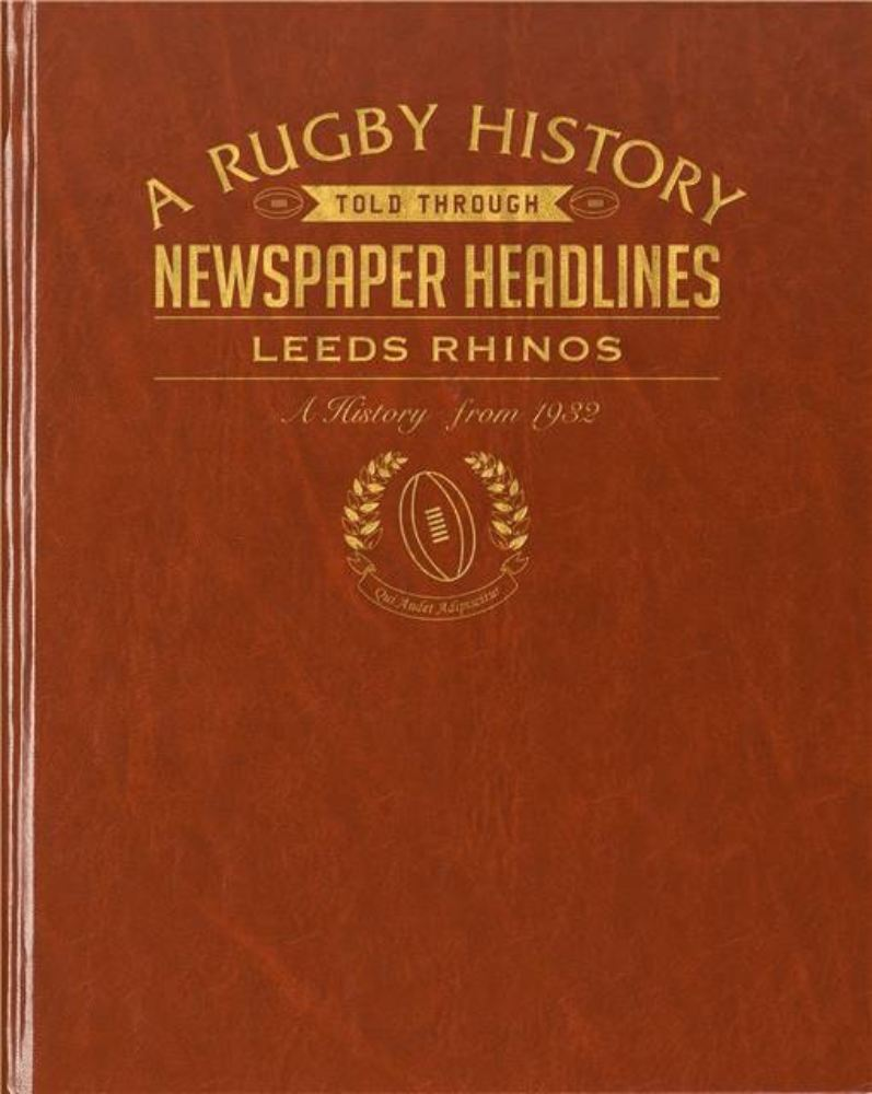 Rugby Newspaper Leeds Rhinos Book - Leatherette Cover product image