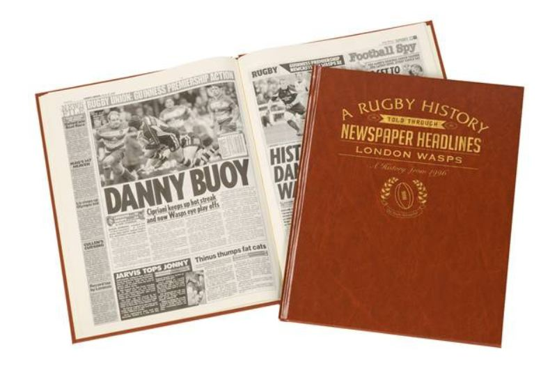 Rugby Newspaper London Wasps book - Brown Leatherette  product image