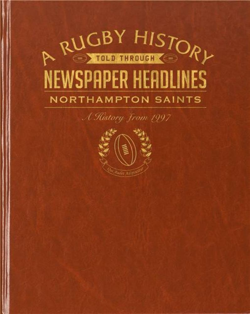 Rugby Newspaper Northampton Book Leatherette Cover product image
