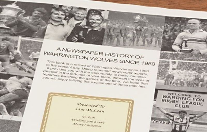 Rugby Newspaper Warrington Book - Leatherette Cover product image