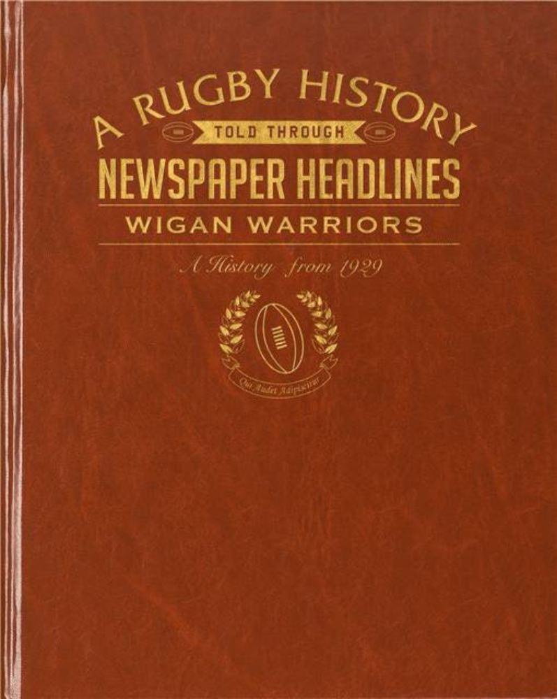 Rugby Newspaper Wigan Warriors Book - Leatherette Cover product image