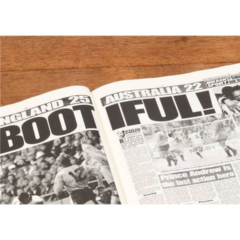Rugby World Cup Newspaper Book - Brown Leatherette  product image