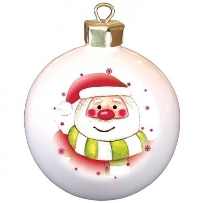 Santa and Stars Personalised Bauble product image