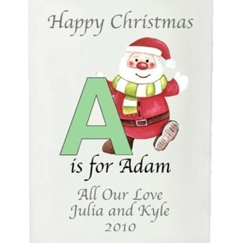 Santa Personalised Initial Candle product image