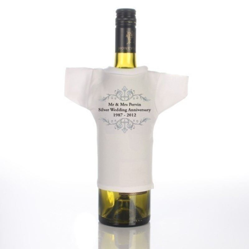 Silver Anniversary Wine Bottle T-Shirt product image