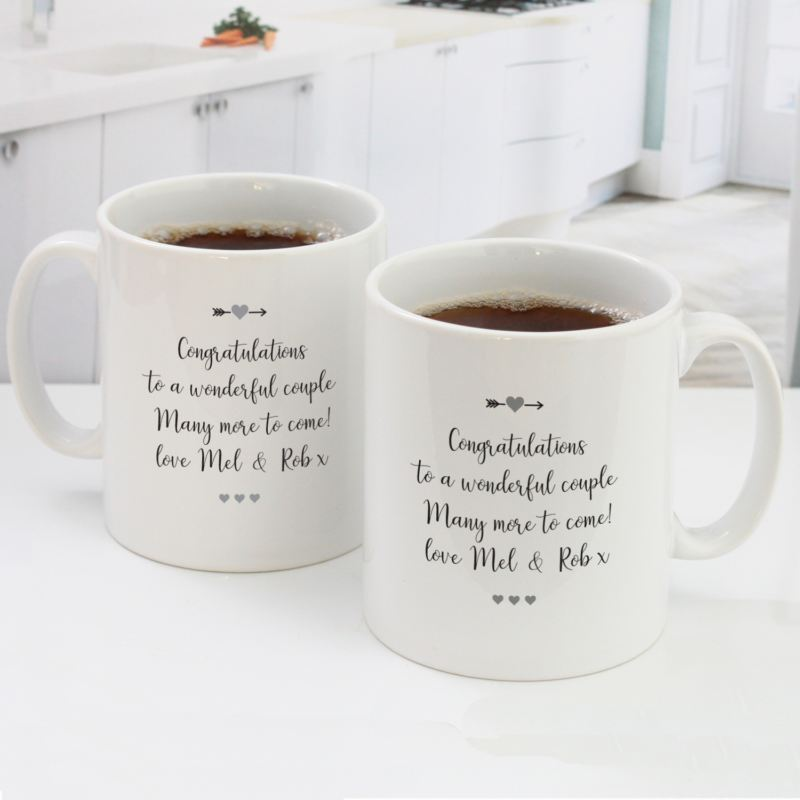 Personalised Pair Of 25th Wedding Anniversary Mugs product image