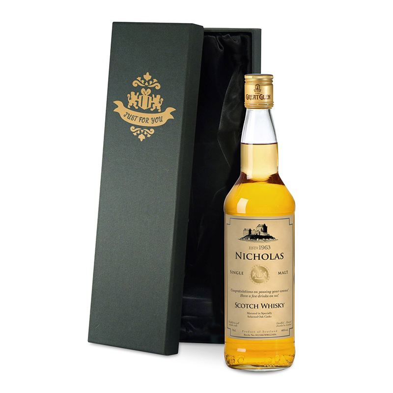 Single Malt Whisky with Generic Label in a Silk Lined Box product image