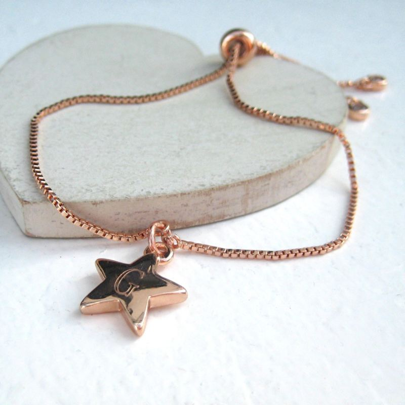Slider Chain Bracelet - Personalised Star product image