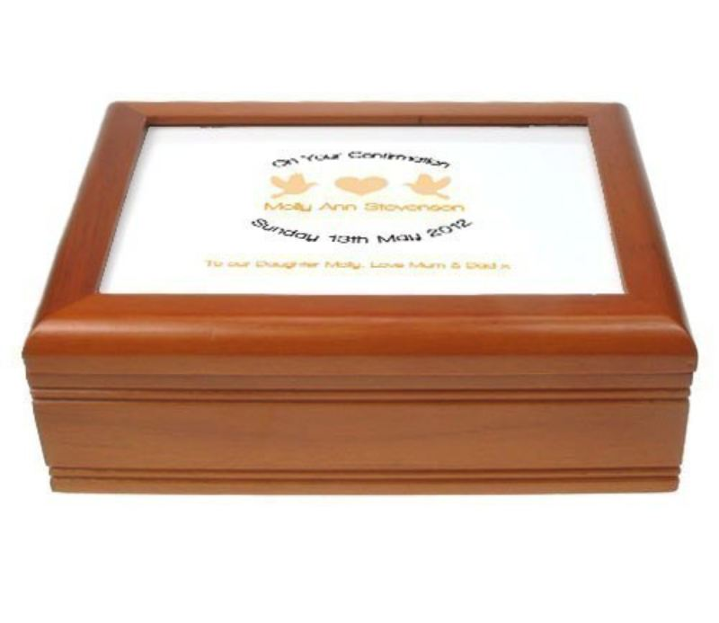 Soft Orange Musical Confirmation Jewellery Box product image
