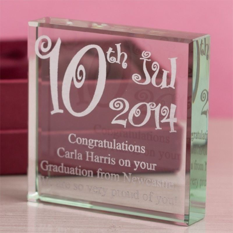 Special Date Personalised Glass Keepsake product image