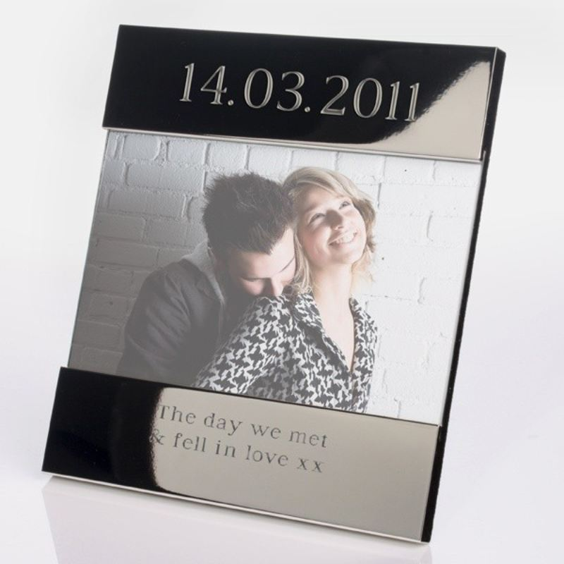 Special Date Shiny Silver Photo Frame product image