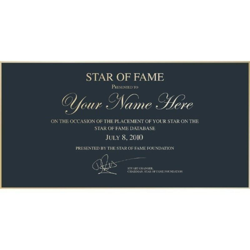 Personalised Star Of Fame product image