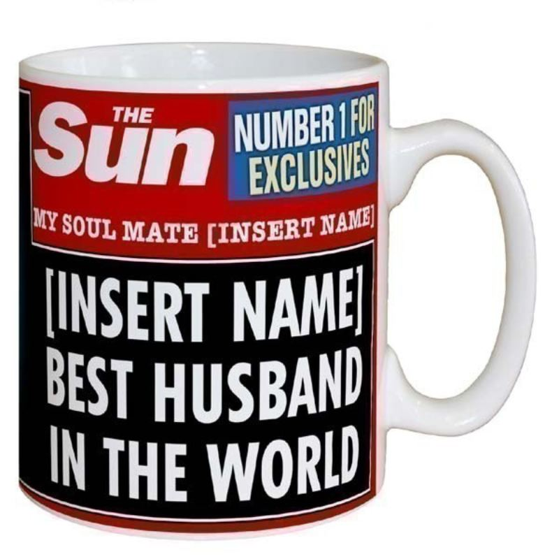 Sun Newspaper Best Husband Mug The Personalised Gift Shop
