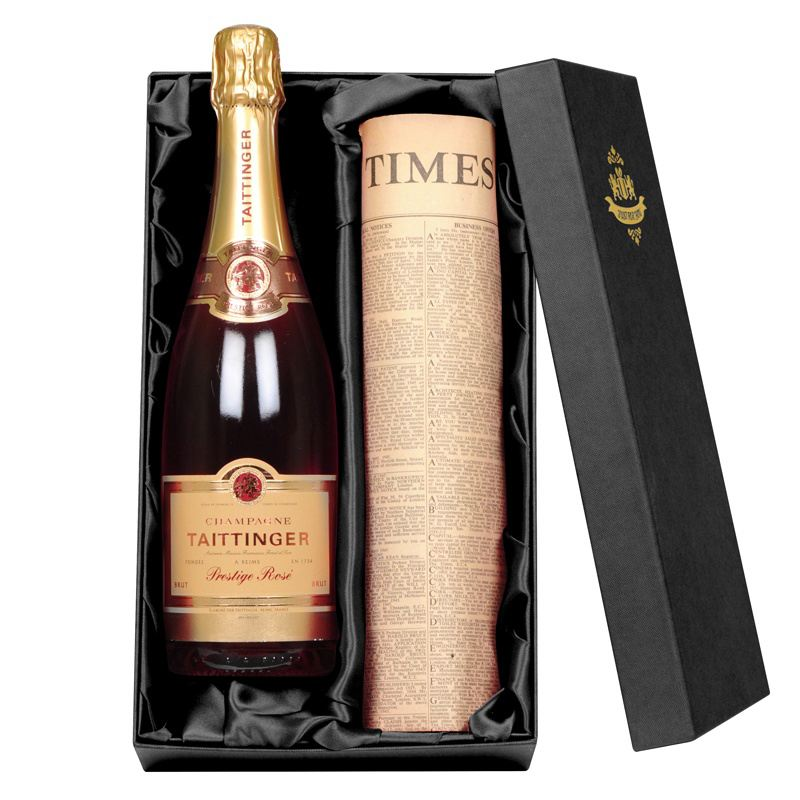 Taittinger Rose Champagne & Newspaper product image