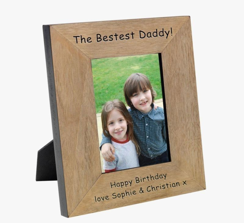 The Bestest Daddy Wood Photo Frame 6 x 4 product image